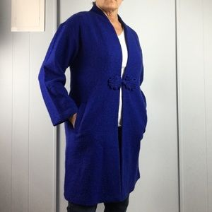 For  Cynthia sapphire blue coat